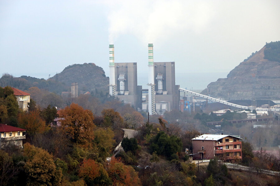 Zonguldak'taki Çatalağzı Termik Santrali