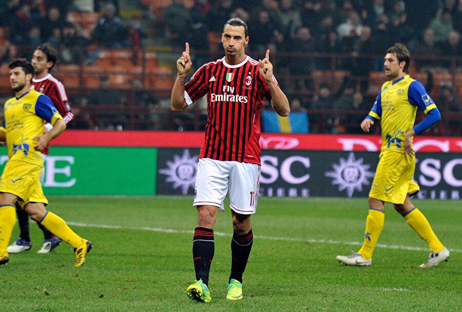 Zlatan, Milan formasıyla 58 gol kaydetti.