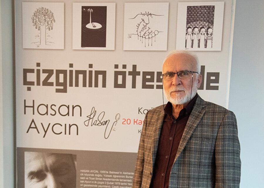 Hasan Aycın'ın eserlerinden oluşan 'Çizginin Ötesinde' sergisi Zeytinburnu Kültür Merkezi'nde sergilendi.