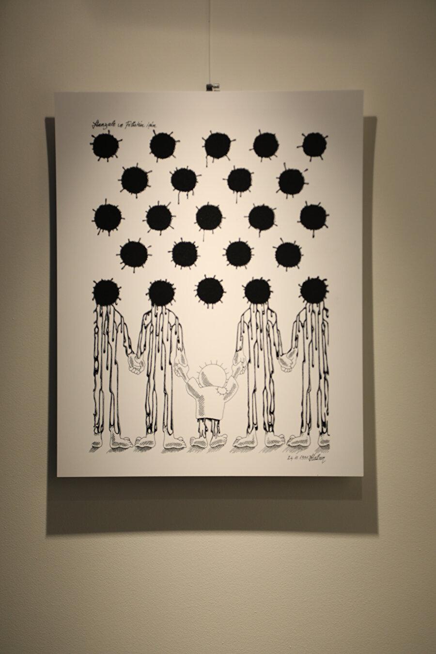 Aycın'ın eserlerinin tamamı siyah-beyaz. Çünkü renkli çalışmalarda insani olmaklıkla ilgili temel kaygısını ifade etme şansı olmadığını söylüyor.
