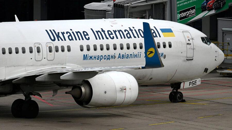 Ukrayna Havayolları'nın düşen uçağı...