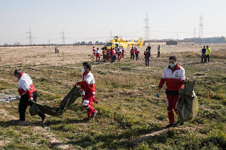 Uçakta bulunan 176 kişiden kurtulan olmadı.