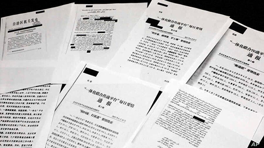 Sincan Uygur Özerk Bölgesi'nde yaşananlara ilişkin basına sızan Çin yönetimine ait resmi belgeler.