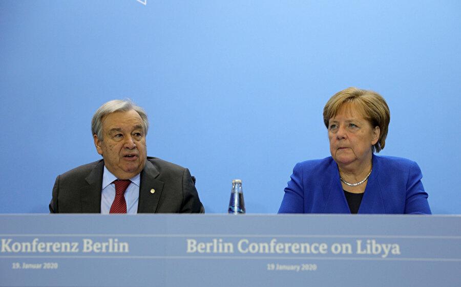 nAlmanya Başbakanı Angela Merkel ve BM Genel Sekreteri Antonio Guterres