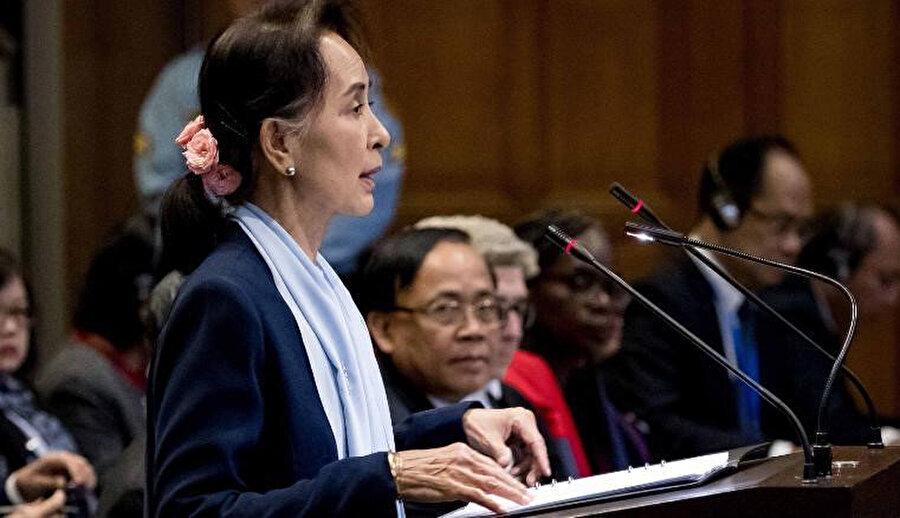 Myanmar Devlet Başkanı Aung San Suu Çi, Uluslararası Adalet Divanı'na Myanmar'ın itirazlarını sunmuştu.