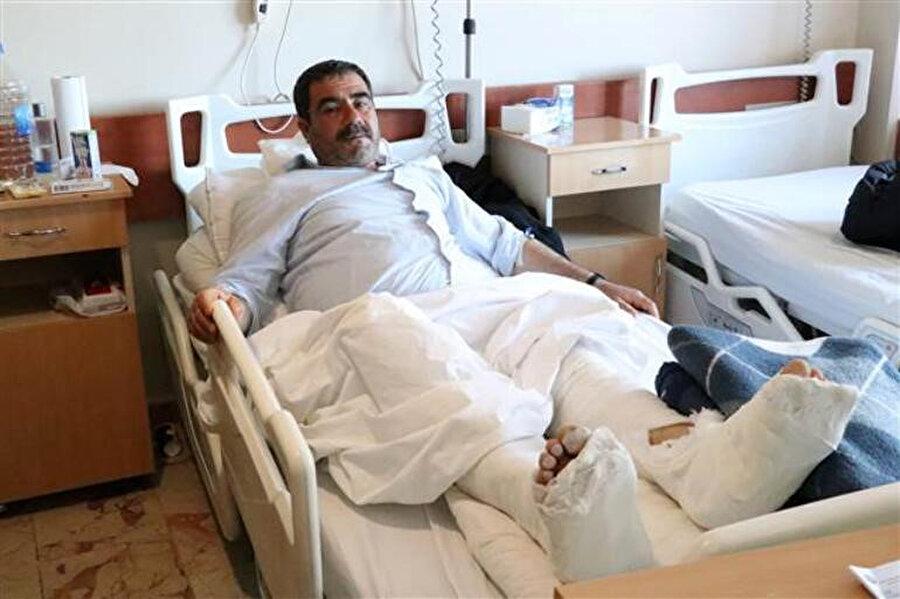 Depremde yaralanan Ahmet Ünal
