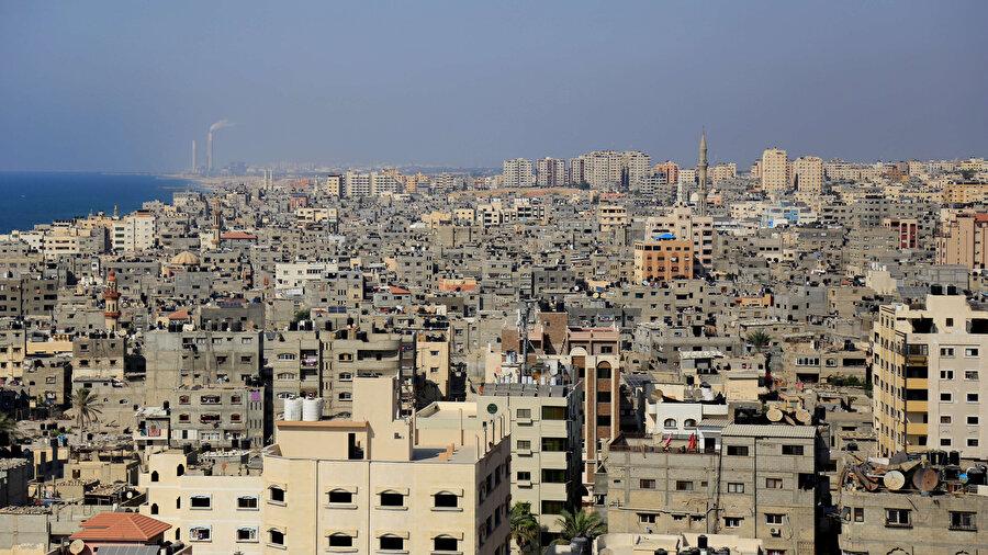 Abluka altındaki Gazze Şeridi'nde bir Filistin devleti kurulması öngörülüyor.
