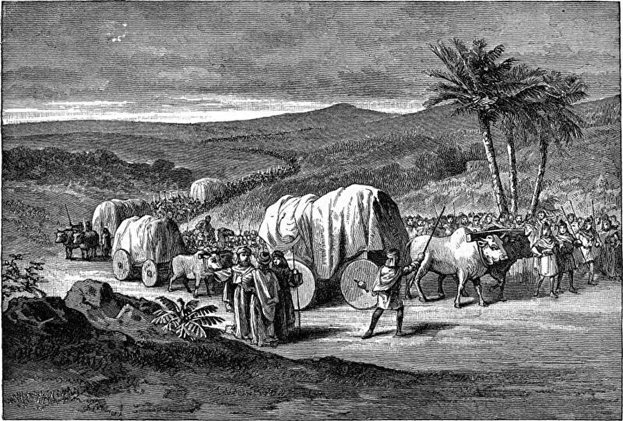 İsrailoğulları'nın yolculuğu.