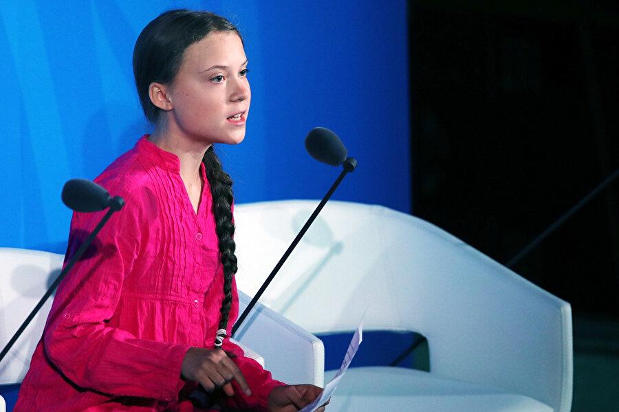 Greta Tuhunberg, 2019'da BM İklim Toplantısı'nda çarpıcı bir konuşma yapmıştı.