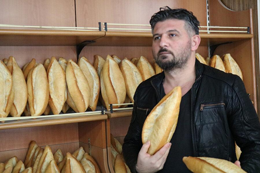 Düşük ekmek fiyatına tepkili olan fırıncı