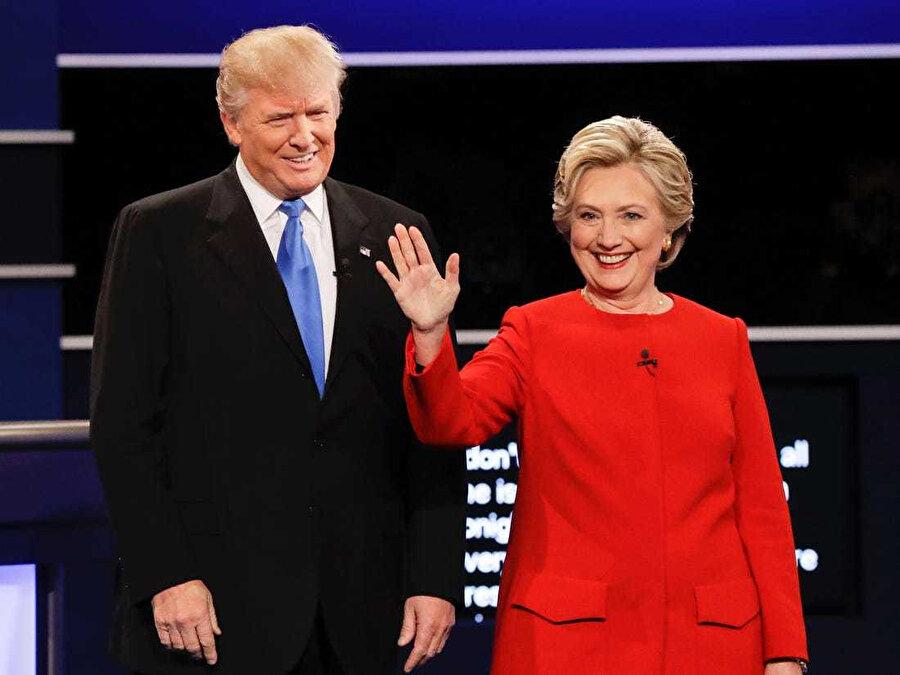ABD Başkanı Donald Trump ve Hillary Clinton