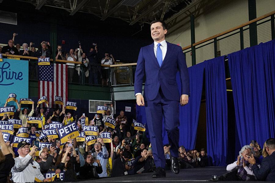Pete Buttigieg, yüzde 24,4 oy olarak New Hampshire'da 2. oldu