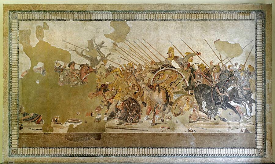 Ahameniş hükümdarı III. Darius ile Makedonya Kralı Büyük İskender'in orduları arasında gerçekleşen İssos Savaşı.