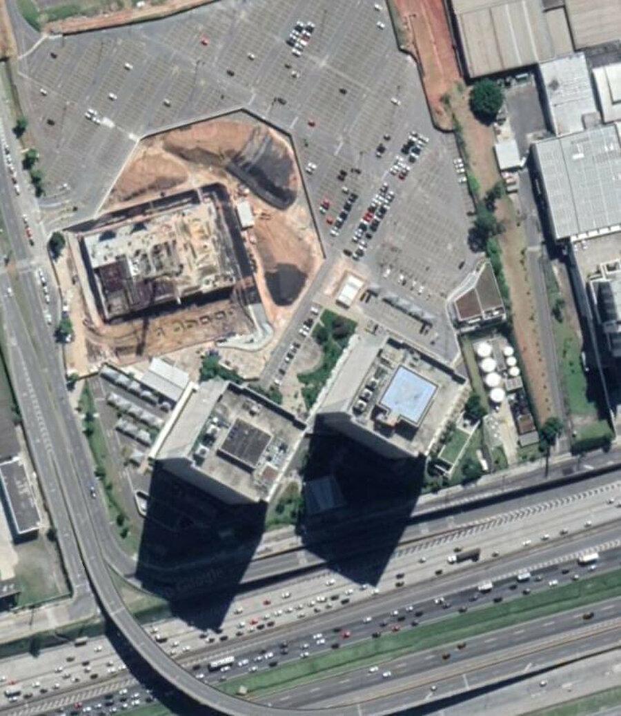 Mehmet Aydın'ın cep telefonu üzerinden alınan konumun uzaydan görüntüsü