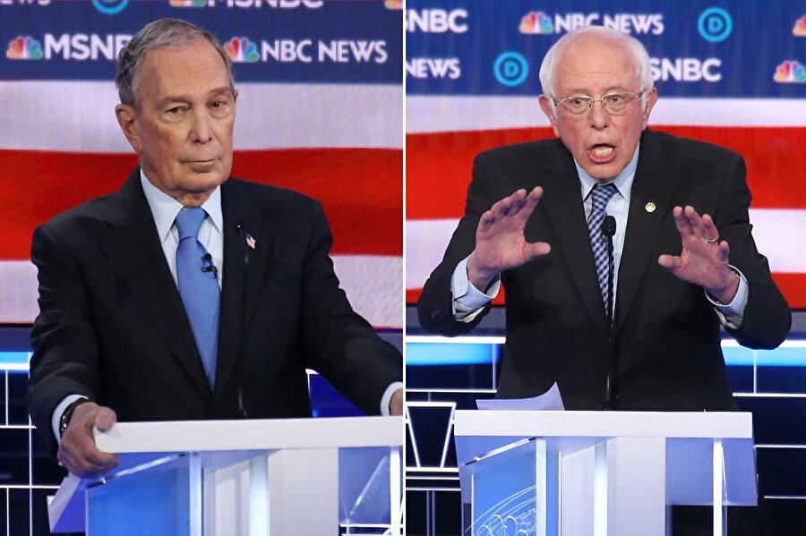 Michael Bloomberg ve Bernie Sanders