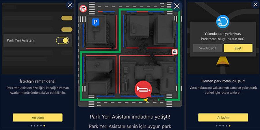 Yandex, park yeri asistanı