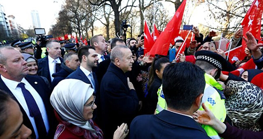 Erdoğan'a Londra'da büyük bir sevgi seli vardı...