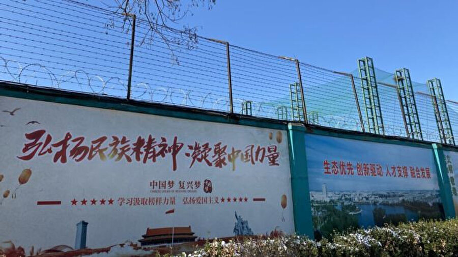 Uygurların zorla çalıştırıldığı fabrikalardan biri.