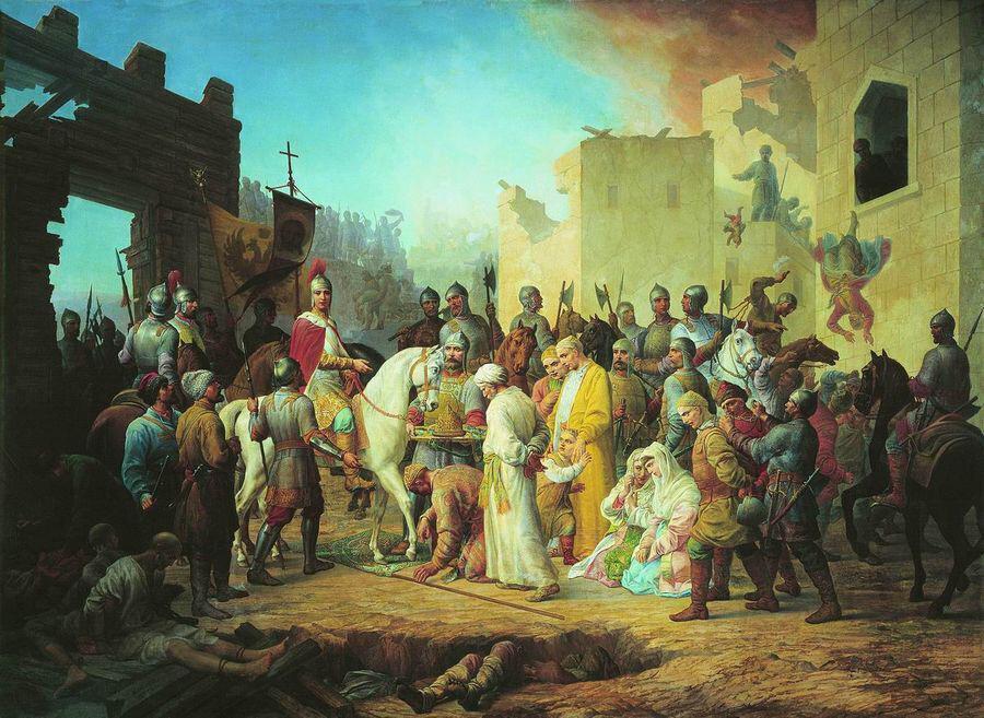 IV. İvan'ın Kazan topraklarını işgali. (Çizer: Pyotr Shamshin)