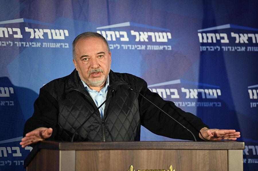 Eski Savunma Bakanı Avigdor Liberman'ın İsrail Evimiz Partisi'nin genel merkezindeki seçim değerlendirmesi.