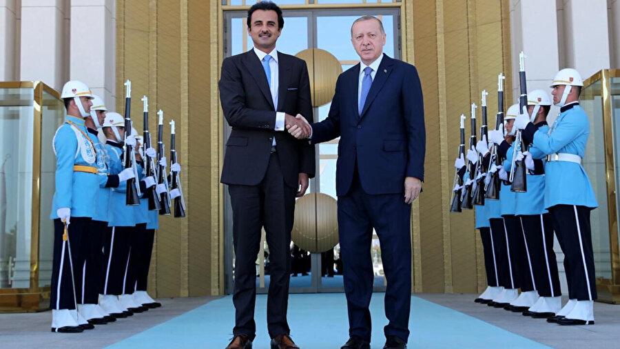 Cumhurbaşkanı Erdoğan ve Katar Emiri Al Sani...