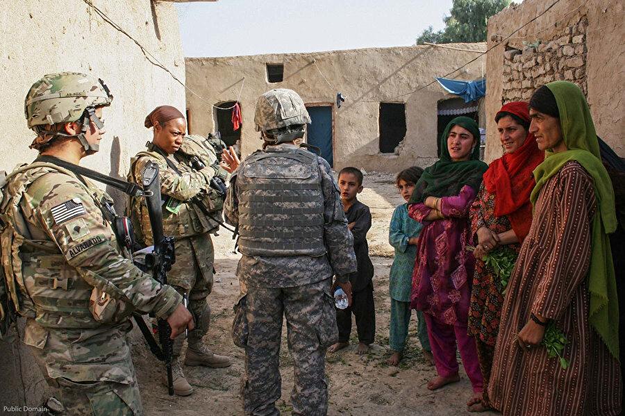 Afganistan'daki Amerikan varlığı.