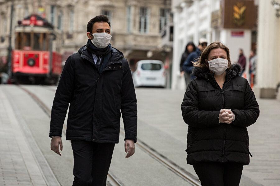 Maske takan vatandaşlar böyle görüntülendi.