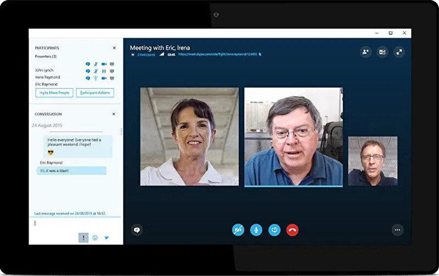 Skype, özellikle en fazla tercih edilen görüntülü görüşme uygulaması. Çünkü çok fazla kişiyi bir araya toplayarak konferans yapmayı sağlıyor.