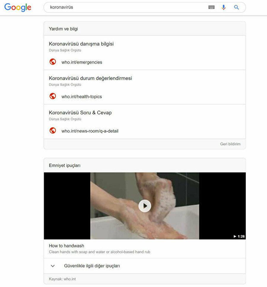 Google, Koronavirüs araç çubuklarıyla salgınla alakalı kapsamlı bilgiler ve önlemler rehberini web sitelerine girmeden karşınıza getiriyor.