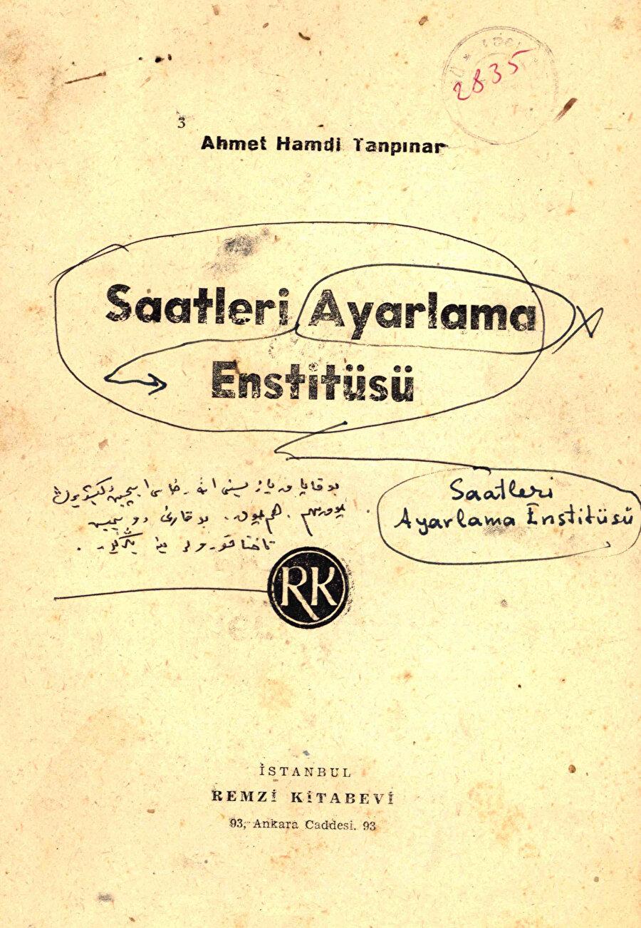 Saatleri Ayarlama Enstitüsü, Ahmet Hamdi Tanpınar