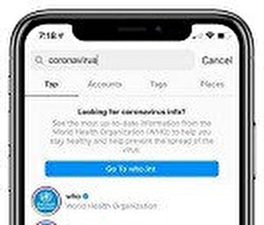 Instagram, Koronavirüs önlemlerini ve bilgilerini de artırıyor.