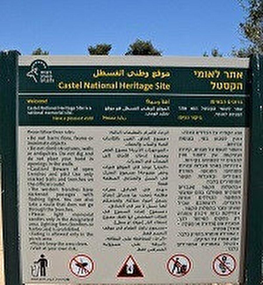 Günümüzde Kastel, İsrail tarafından açık müze şeklinde ulusal parka çevrilmiştir.