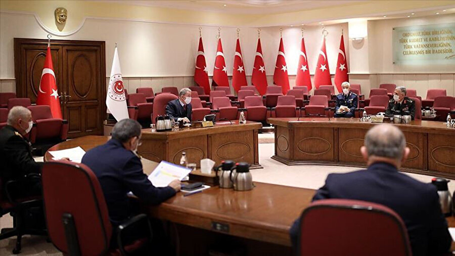 Milli Savunma Bakanı Akar başkanlığındaki toplantı
