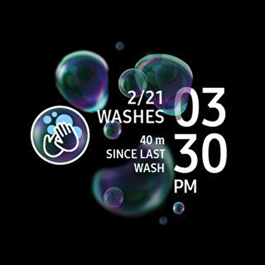 Samsung Hand Wash uygulaması, gün içindeki el yıkama rutiniyle alakalı çeşitli bilgiler de sunuyor.
