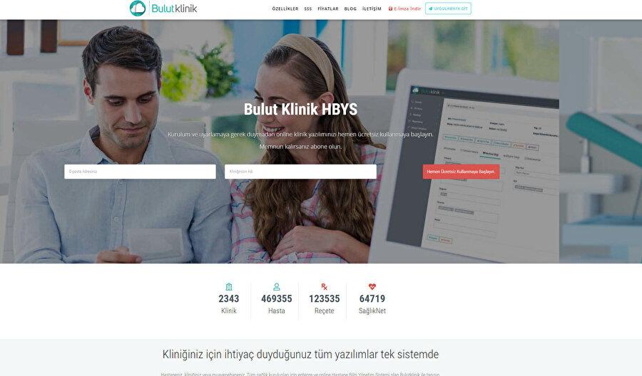 Bulutklinik'in internet sayfası