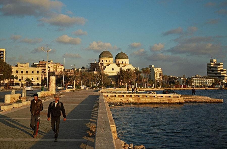 Libya'nın Akdeniz kıyısındaki sahil şehri Bingazi, 24 Nisan, 2020.