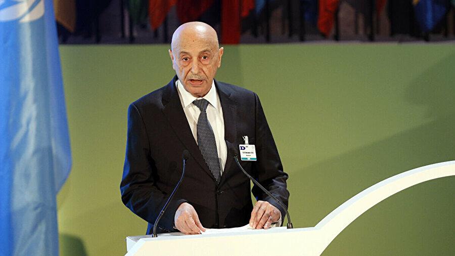 Tobruk merkezli Temsilciler Meclisi Başkanı Akile Salih.