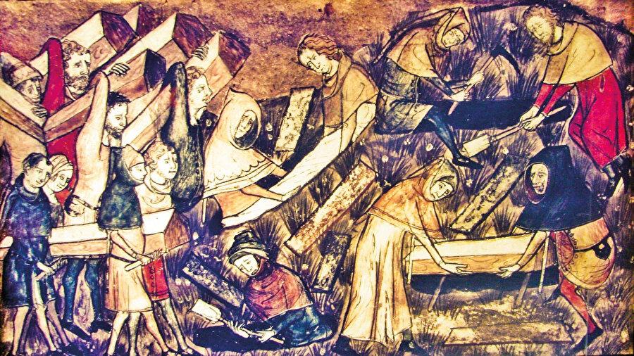 Müslümanlar, salgınlarla ilk kez 638 yılında tarihî bir yerleşim yeri olan Amvas'ta karşılaştı.