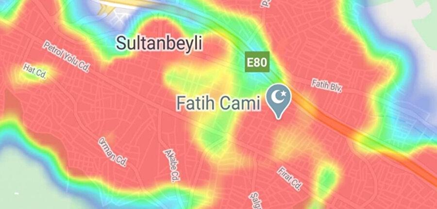 Böylece yoğunluk haritası üzerinden artık şehir şehir en riskli bölgeler görülebiliyor.