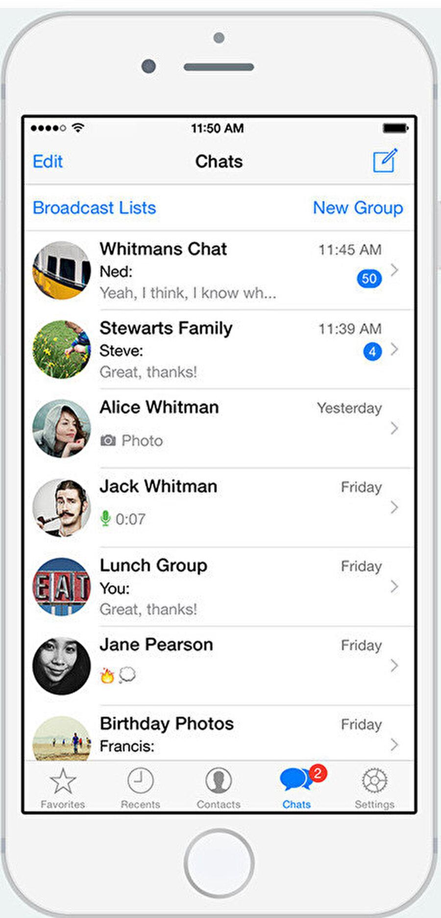 WhatsApp zaman içinde kullanıcısına özel olmak gibi bir seyir izledi, yani uygulama kullanıcı tarafından kişiselleştirilme imkânı sundu.