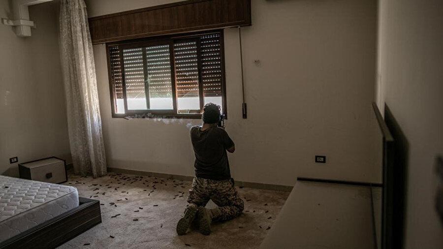 Barış Fırtınası Harekatı kapsamında Hafter milisleri ile mücadele eden Libya ordusu.