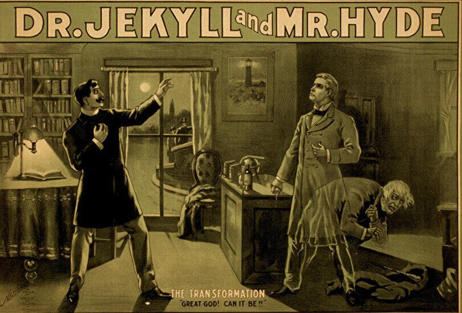 """1910-1915 yılları arasında –sonraki yıllarda tekrarları da- çekilen Dr. Jekyll ve Mr. Hyde (İki Ruhlu Adam), """"uzun metrajlı ilk korku filmi"""" olarak beyaz perdeye yansımıştır."""
