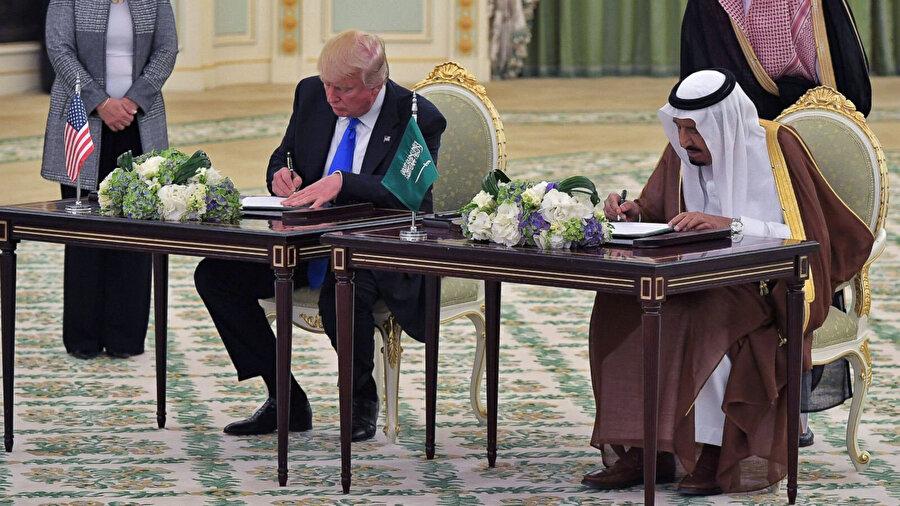 Mayıs 2017'de Suudi Arabistan'la ABD arasında gerçekleştirilen silah anlaşması.