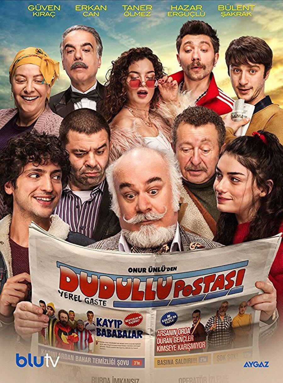 Yönetmen Onur Ünlü'nün, Blutv'de gösterime giren yeni komedi dizisi Dudullu Postası, karikatürist Serkan Yılmaz'ın uzun yıllar mizah dergisi Penguen için çizdiği seriden diziye uyarlandı. Başrollerinde Güven Kıraç, Erkan Can, Taner Ölmez, Hazar Ergüçlü, Bülent Şakrak ve Ayda Aksel'in yer aldığı dizi, Dudullu'da yerel düzeyde haber yaptıklarını zannederken, kendi komik hikâyelerini anlattıklarının farkında olmayan birkaç gazetecinin yanı sıra hayalperest gençler, umutsuz ev hanımları ve halı saha maçında kaybolan babaların hikâyelerinden doğan absürd komediyi ekrana taşıyor.
