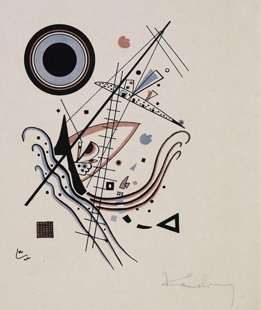 Wassily Kandinsky'nin mavi litografi ile yaptığı bir çalışması