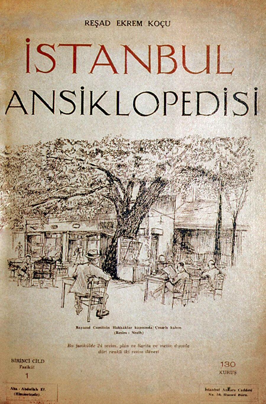 """""""G"""" harfinin ortalarında kalıp tamamlanamamış meşhur İstanbul Ansiklopedisi, bazı katkılar ve kendisinin müstear isimlerle yazdığı maddelerle birlikte Koçu'nun eseri."""