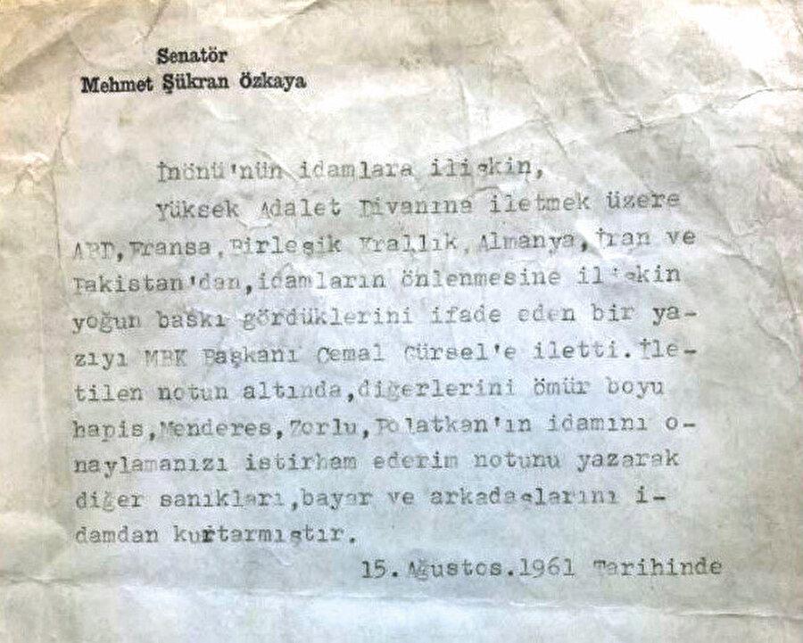 MGK Genel Sekreteri Albay Şükran Özkaya'nın idamla ilgili yazdıkları