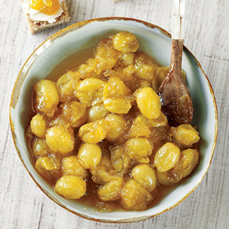 Sarı üzüm reçeli