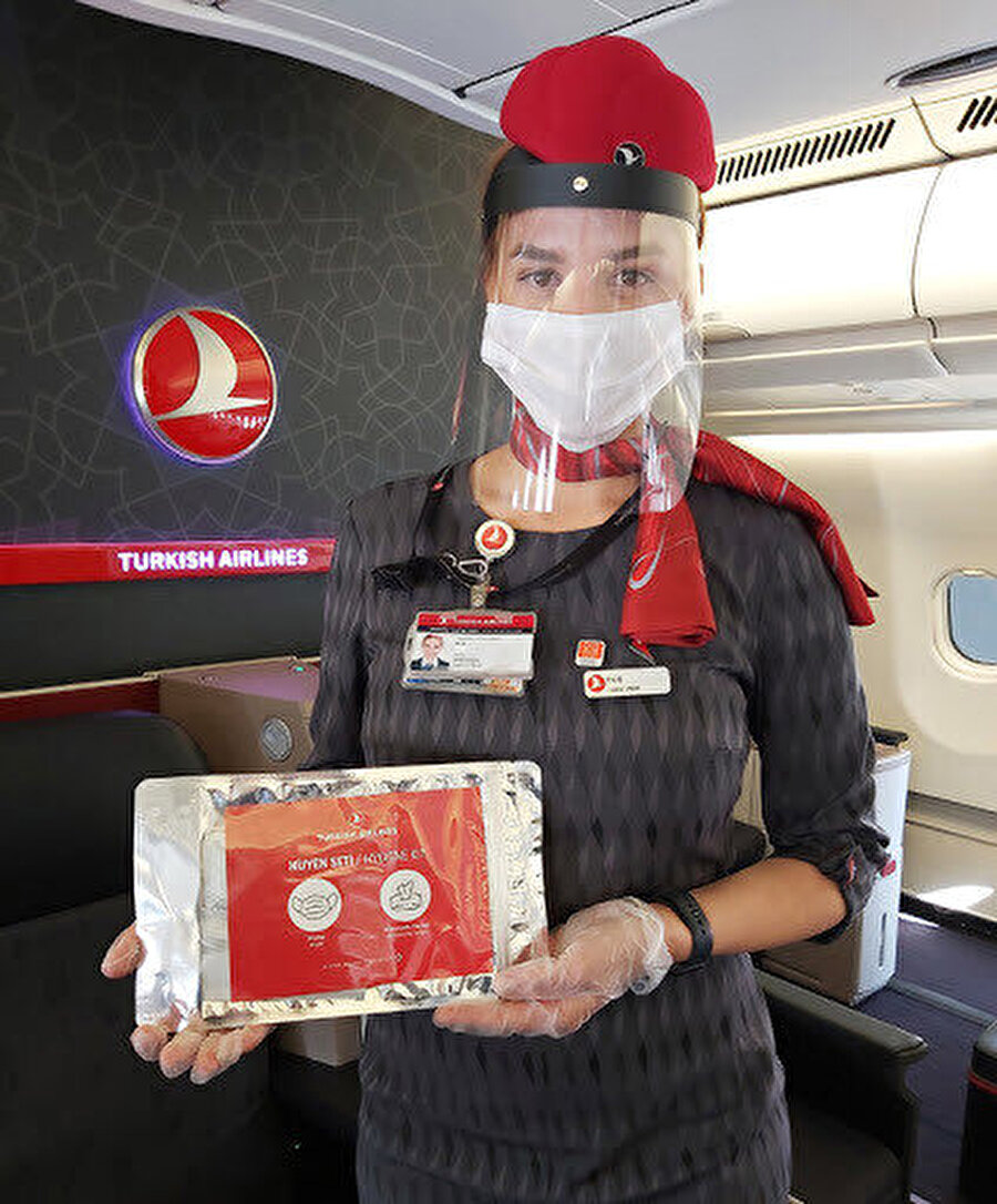 Uçaklarda dağıtılacak hijyen seti