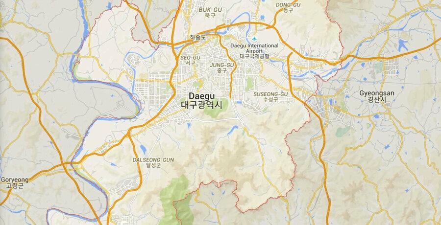 En fazla vaka görülen bölge, Güney Kore'de üretimlerin gerçekleştiği bölgelere fabrikalara 20 dakika uzaklıkta.